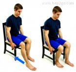 Foot slide ankle stretch to increase dorsiflexion. Approved use www.hep2go.com
