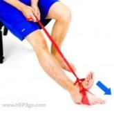 Resistance bands are a great tool with calf exercises.  Approved use www.hep2go.com