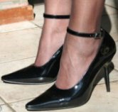 High heels with narrow toes can lead to foot problems