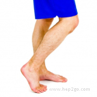 Exercise to stretch to toes and plantar fascia.  Approved use www.hep2go.com