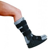 With severe ankle sprains, you may be placed in a walking boot to prevent further injury