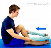 Calf stretches can be useful when treating extensor tendonitis.  Approved use www.hep2go.com