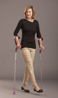 Crutches may be necessary in the initial stages following a foot stress fracture to give it time to heal
