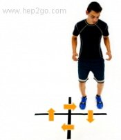 Jumping calf exercises.  Approved use www. hep2go.com