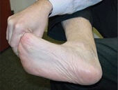 Passive stretch exercises for the plantar fascia