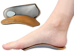 Heel cups are another good foot pain treatment tool. They correct foot position and help support the foot arches
