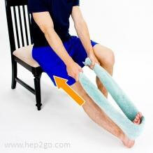 Calf stretches help reduce the tension through the achilles tendon, relieving the pressure on the retrocalcaneal bursa. Approved use hep2go.com