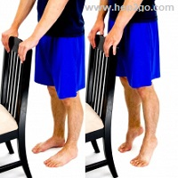 Strengthening the calf muscles helps to reduce plantar fasciitis pain.  Approved use by www.hep2go.com