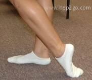 Toe and ankle stretches to improve flexibililty.  Approved use www.hep2go.com
