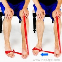Theraband Turn Outs. Theraband exercises are a great way to strengthen the foot and ankle muscles.  Approved use www.hep2go.com