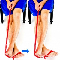 Theraband Turn Ins. Theraband exercises are a great way to strengthen the foot and ankle muscles.  Approved use www.hep2go.com
