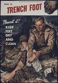 WW1 Poster about preventing Trench Foot