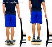 Strengthening exercises can help reduce the risk of calf cramps.  Approved use by www.hep2go.com