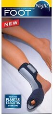 Wearing night splints is a simple way of treating plantar fasciitis