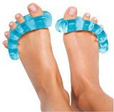 The Yoga Toe is a great way to stretch the foot muscles without having to exercise.